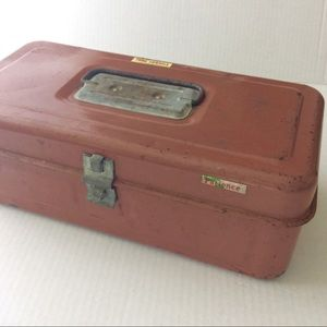 Vintage Rusty Think Friendly Patience Tool Box